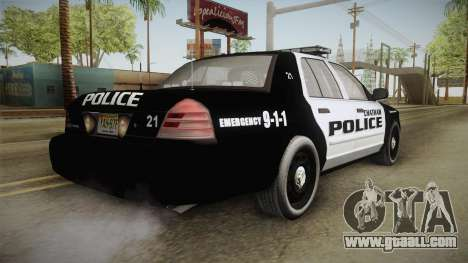Ford Crown Victoria 2009 Chatham, New Jersey PD for GTA San Andreas back left view