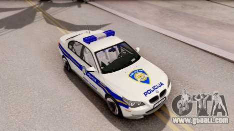 BMW M5 E60 Croatian Police Car for GTA San Andreas right view
