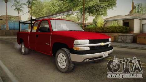 Chevrolet Silverado Work Truck 2001 for GTA San Andreas right view