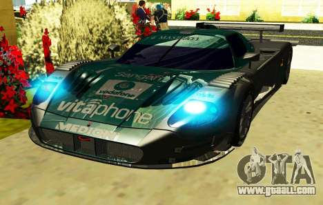 Maserati MC-12 GT1 Sports for GTA San Andreas back view