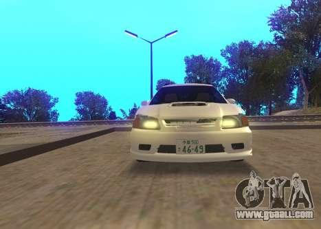 Toyota Caldina for GTA San Andreas back view