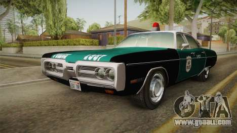Plymouth Fury I NYPD for GTA San Andreas right view