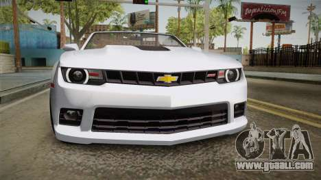 Chevrolet Camaro Convertible 2014 for GTA San Andreas inner view
