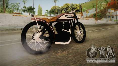 Harley-Davidson V Twin Racer 1916 for GTA San Andreas left view