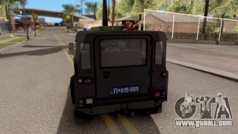 Land Rover Defender Gendarmerie, Which for GTA San Andreas back left view