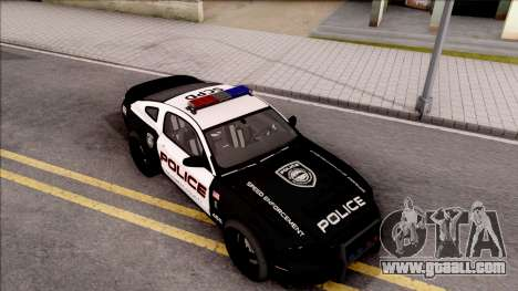 Ford Mustang GT High Speed Police for GTA San Andreas right view