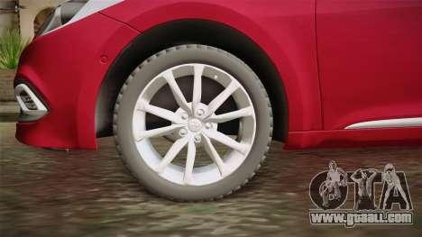 Hyundai Azera 2016 for GTA San Andreas back view