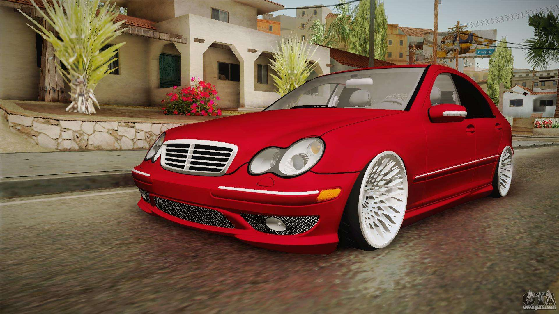 mercedes benz c32 amg stanced for gta san andreas. Black Bedroom Furniture Sets. Home Design Ideas