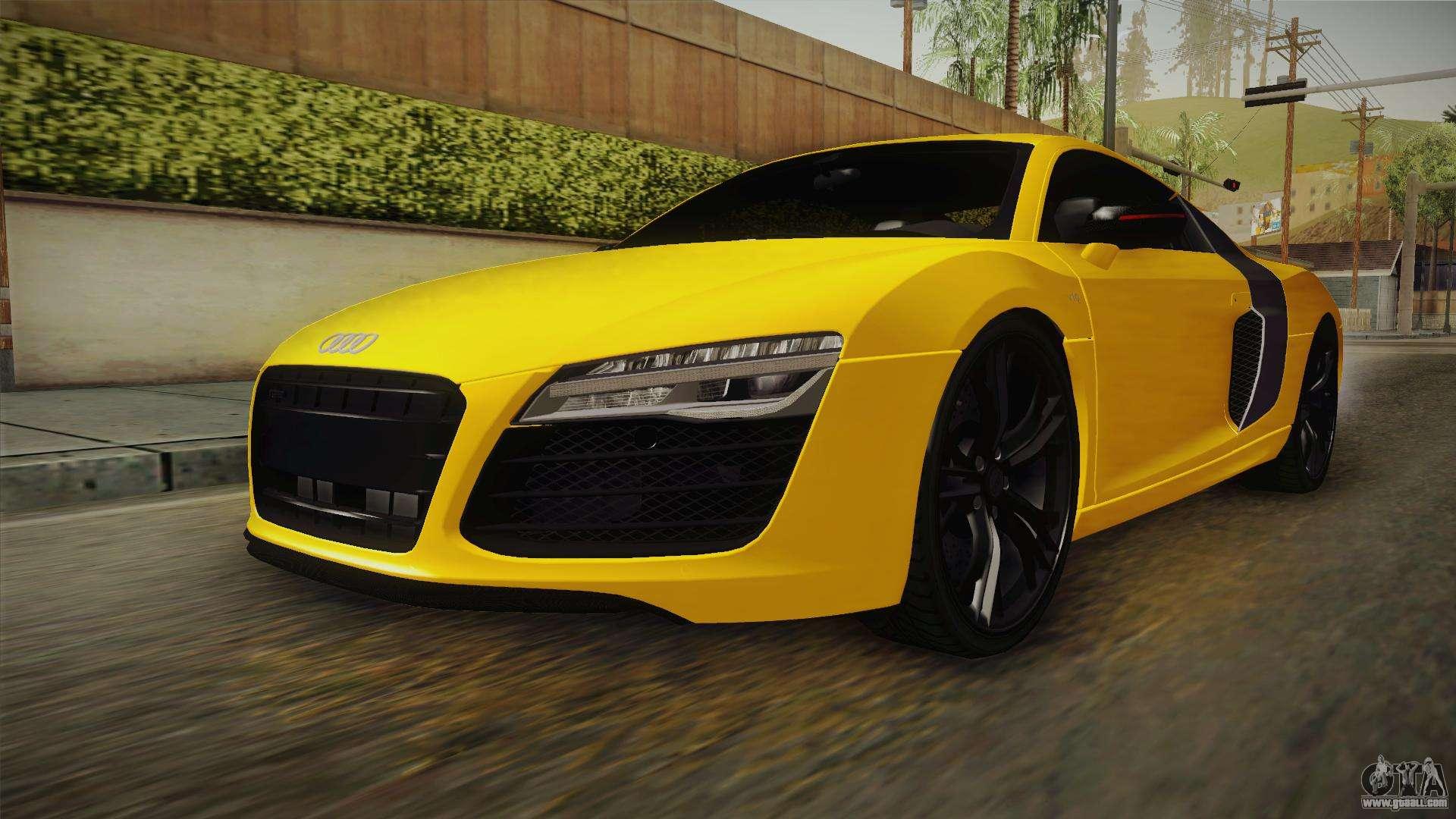Gta Sa on Audi R8 V1 0