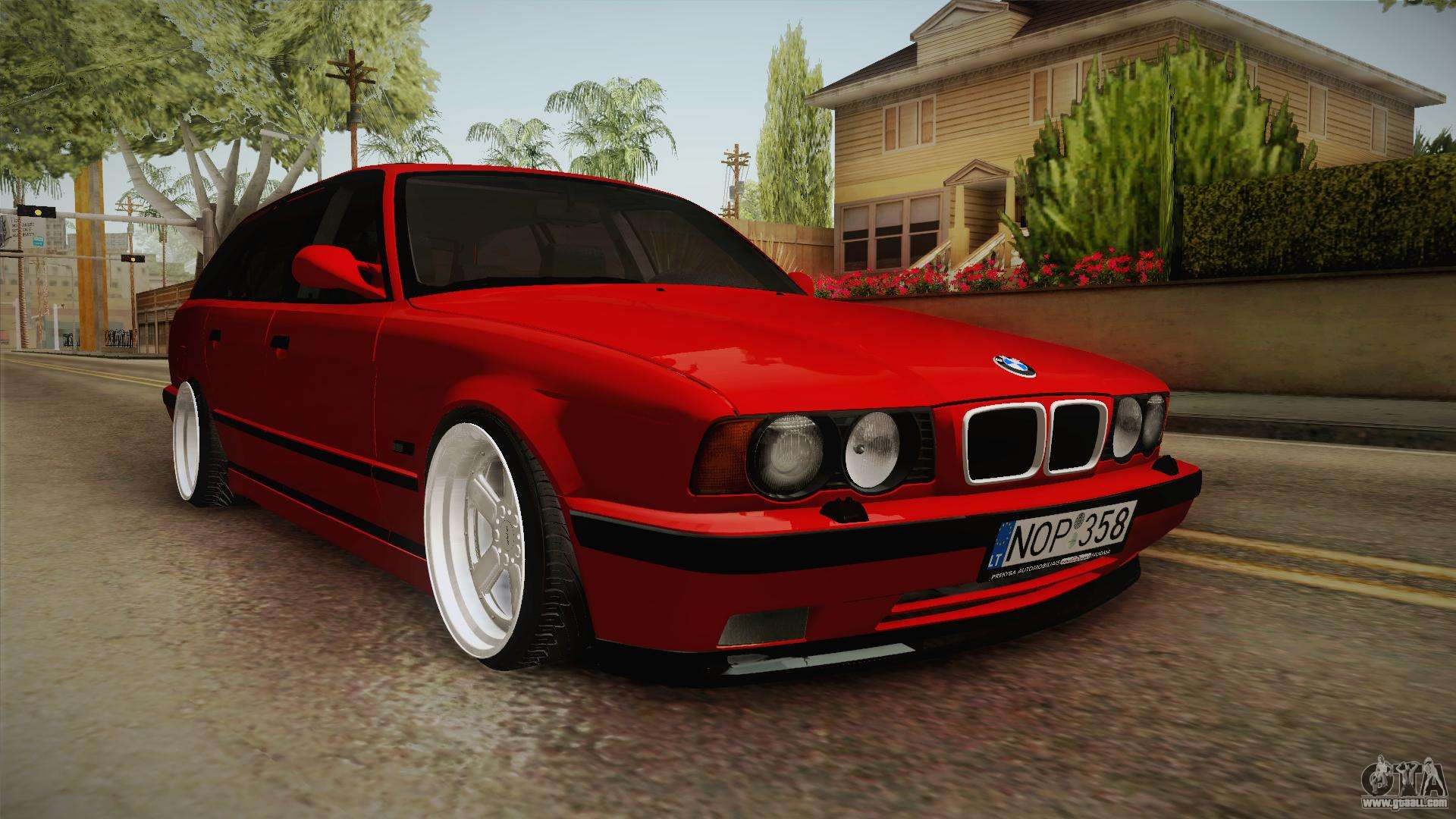 Bmw 5 Series E34 Touring Stance For Gta San Andreas