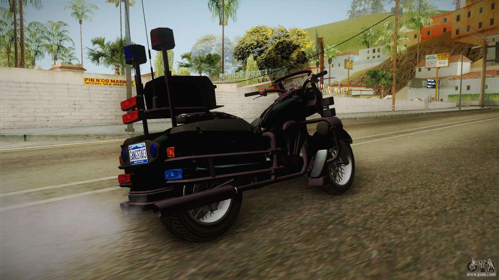 GTA 4 Police Bike for GTA San Andreas