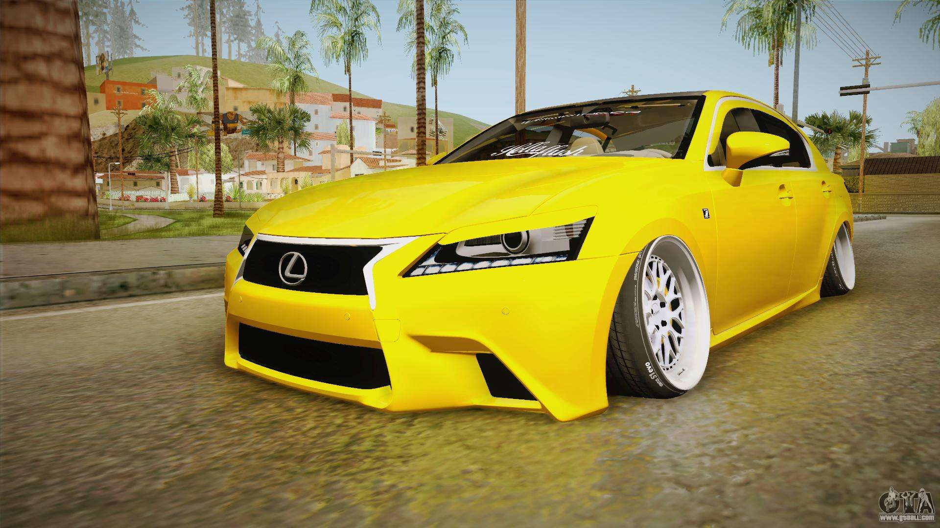 Lexus GS350 F Sport IV Slammed 2013 For GTA San Andreas