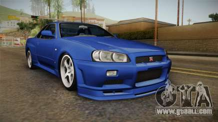 Nissan Skyline GT-R34 Tunable for GTA San Andreas