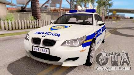 BMW M5 E60 Croatian Police Car for GTA San Andreas