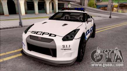 Nissan GT-R 2013 High Speed Police for GTA San Andreas