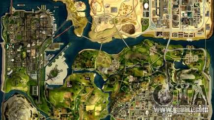 3D card HD radar for GTA San Andreas