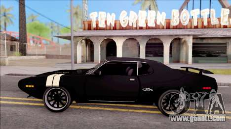 Plymouth GTX Roadrunner 1972 Fate Of Furious 8 for GTA San Andreas left view