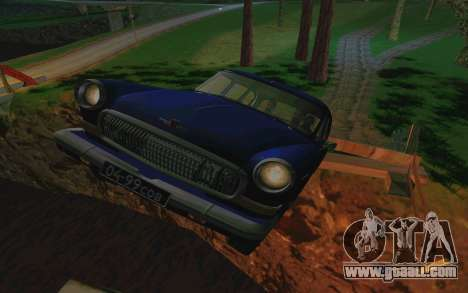 GAZ 21 Limousine v2.0 for GTA San Andreas inner view