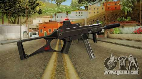 MP5 Grey Chrome for GTA San Andreas second screenshot