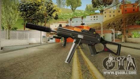 MP5 Grey Chrome for GTA San Andreas