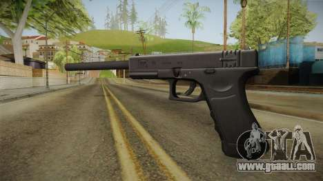 Glock 18 3 Dot Sight with Long Barrel for GTA San Andreas second screenshot