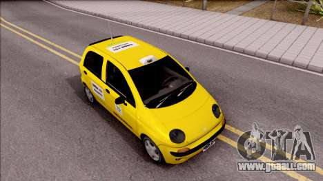 Daewoo Matiz Taxi for GTA San Andreas right view