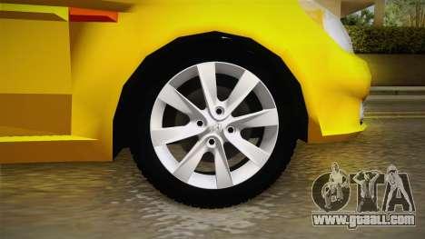 Hyundai Accent 2011 for GTA San Andreas back view