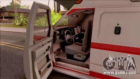 Ford E-350 SFFD San Francisco Ambulance for GTA San Andreas inner view