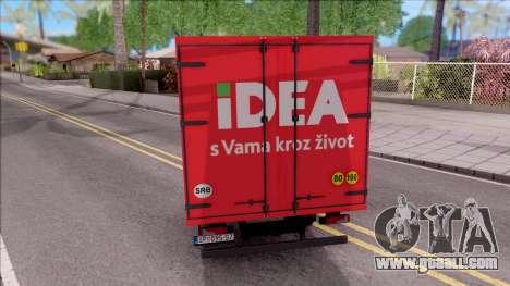 Zastava Daily 35 Transporter for GTA San Andreas back left view