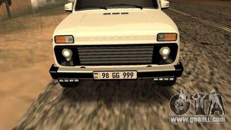 Lada Niva Urban Armenian for GTA San Andreas side view