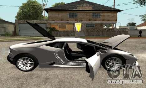 Lamborghini Huracan 2014 Armenian for GTA San Andreas bottom view