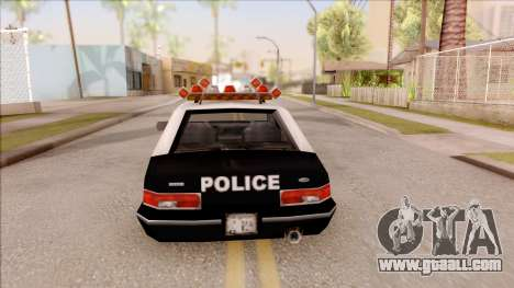 Police Car from GTA 3 for GTA San Andreas back left view