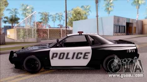 GTA V Annis Elegy Retro Interceptor for GTA San Andreas left view