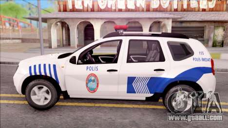 Renault Duster Turkish Police Patrol Car for GTA San Andreas left view