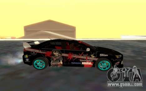 Mitsubishi Lancer Evolution for GTA San Andreas left view