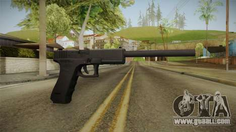 Glock 18 3 Dot Sight with Long Barrel for GTA San Andreas