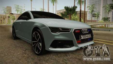 Audi RS7 for GTA San Andreas right view