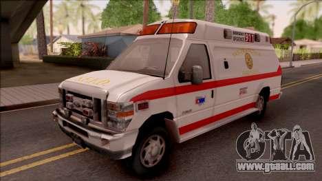 Ford E-350 SFFD San Francisco Ambulance for GTA San Andreas
