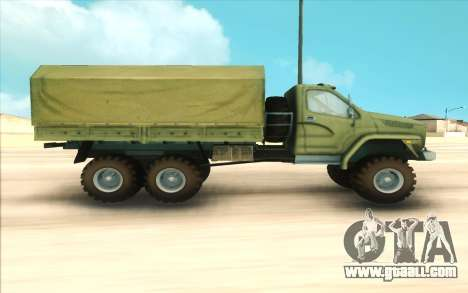 Ural NEXT Military for GTA San Andreas left view