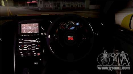 Nissan GT-R R35 Itasha COG LW Performance for GTA San Andreas inner view