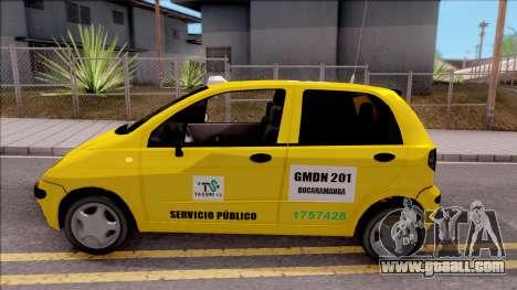 Daewoo Matiz Taxi for GTA San Andreas left view