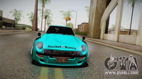 Nissan Fairlady 240Z 432 Rocket Bunny 1969 for GTA San Andreas back view