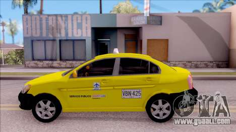 Hyundai Accent Taxi Colombiano for GTA San Andreas left view