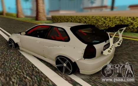Honda Civic 98 Hatch Rocket Bunny for GTA San Andreas back left view