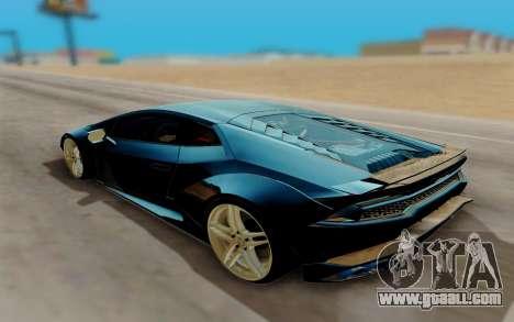 Lamborghini Huracan Custom for GTA San Andreas left view