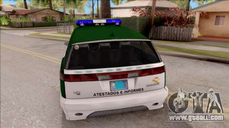 Dinka Perennial MPV Spanish Police for GTA San Andreas back left view
