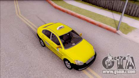 Hyundai Accent Taxi Colombiano for GTA San Andreas right view