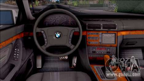 BMW 750i E38 1996 for GTA San Andreas inner view