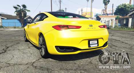 GTA 5 Infiniti Q60 Concept (CV37) 2015 rear left side view