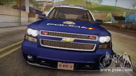Chevrolet Tahoe Spanish Police for GTA San Andreas right view